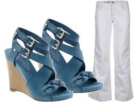 Jeans campana Roxy - Sandalias gladiador Nine West