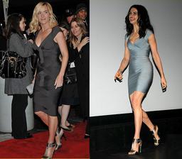 Kate Winslet y Rachel Weisz con un diseño de Hervé Léger