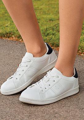 zapatillas blanco y negro