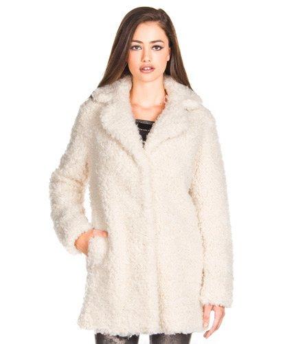 Ofertix abrigo pelo blanco