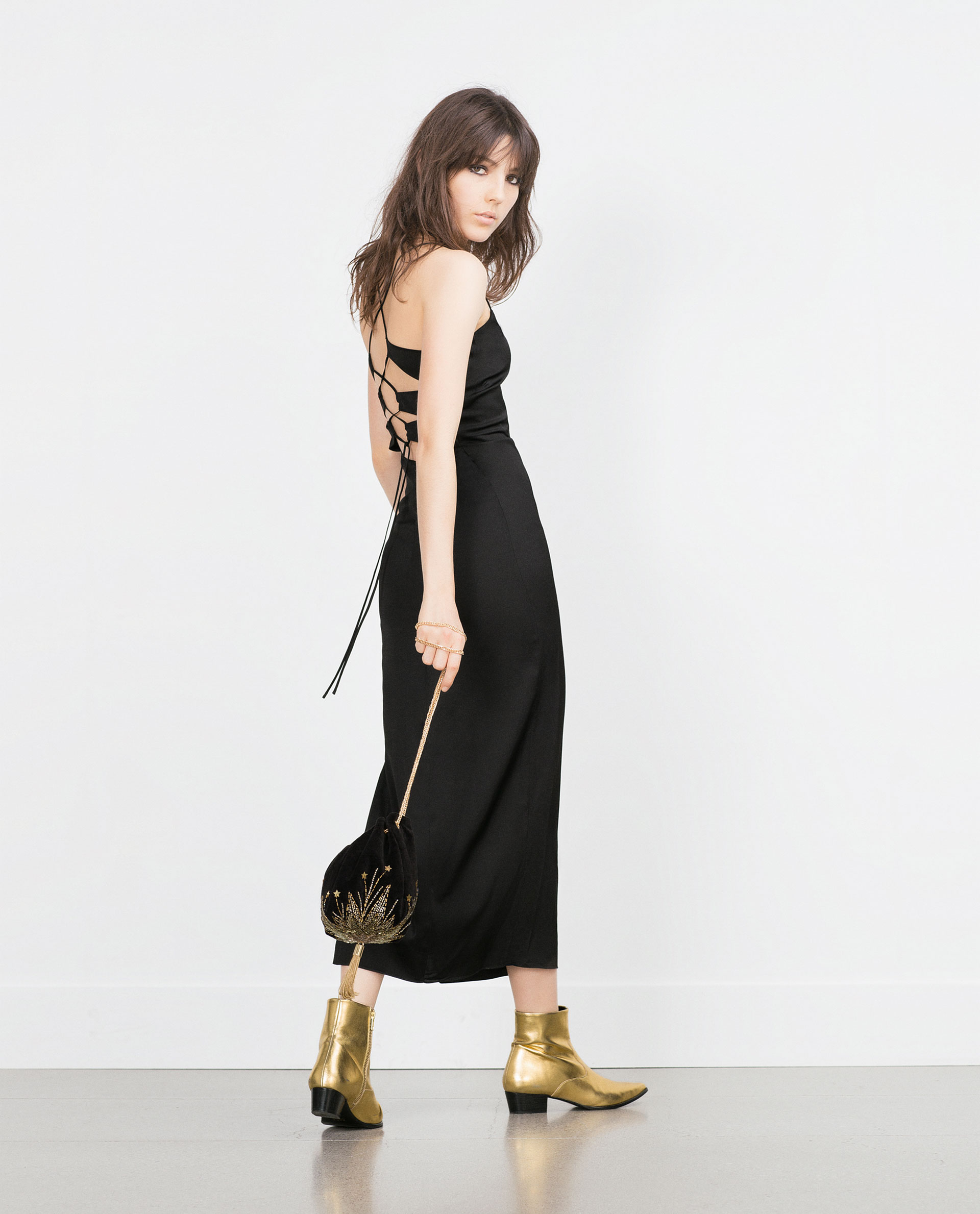Vestido Zara Tiras espalda