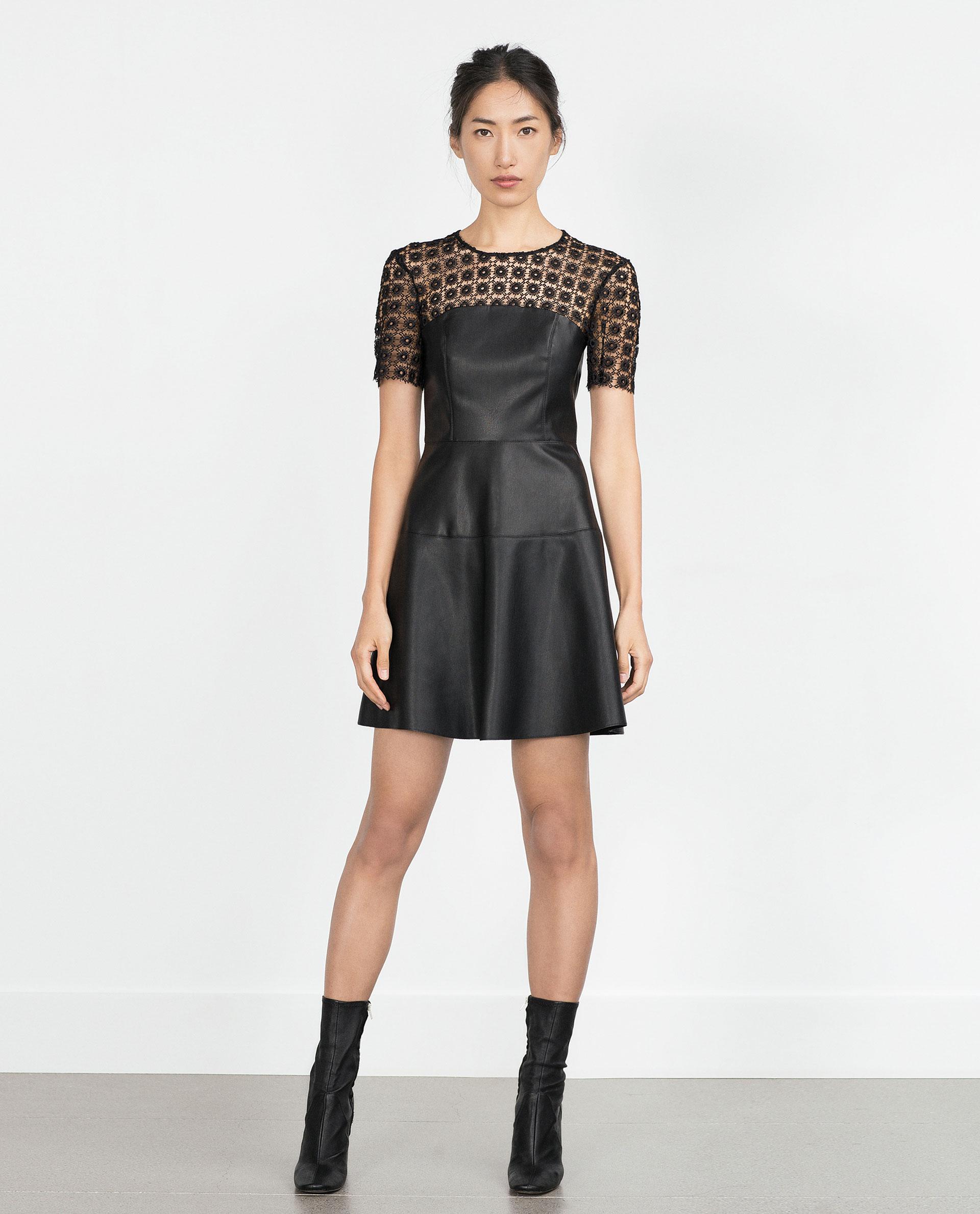 Vestido Zara efecto piel