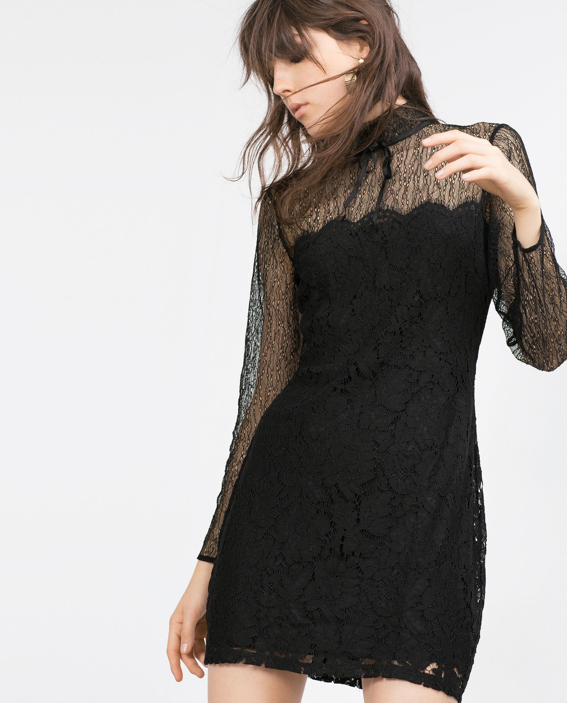 Vestido Zara encaje