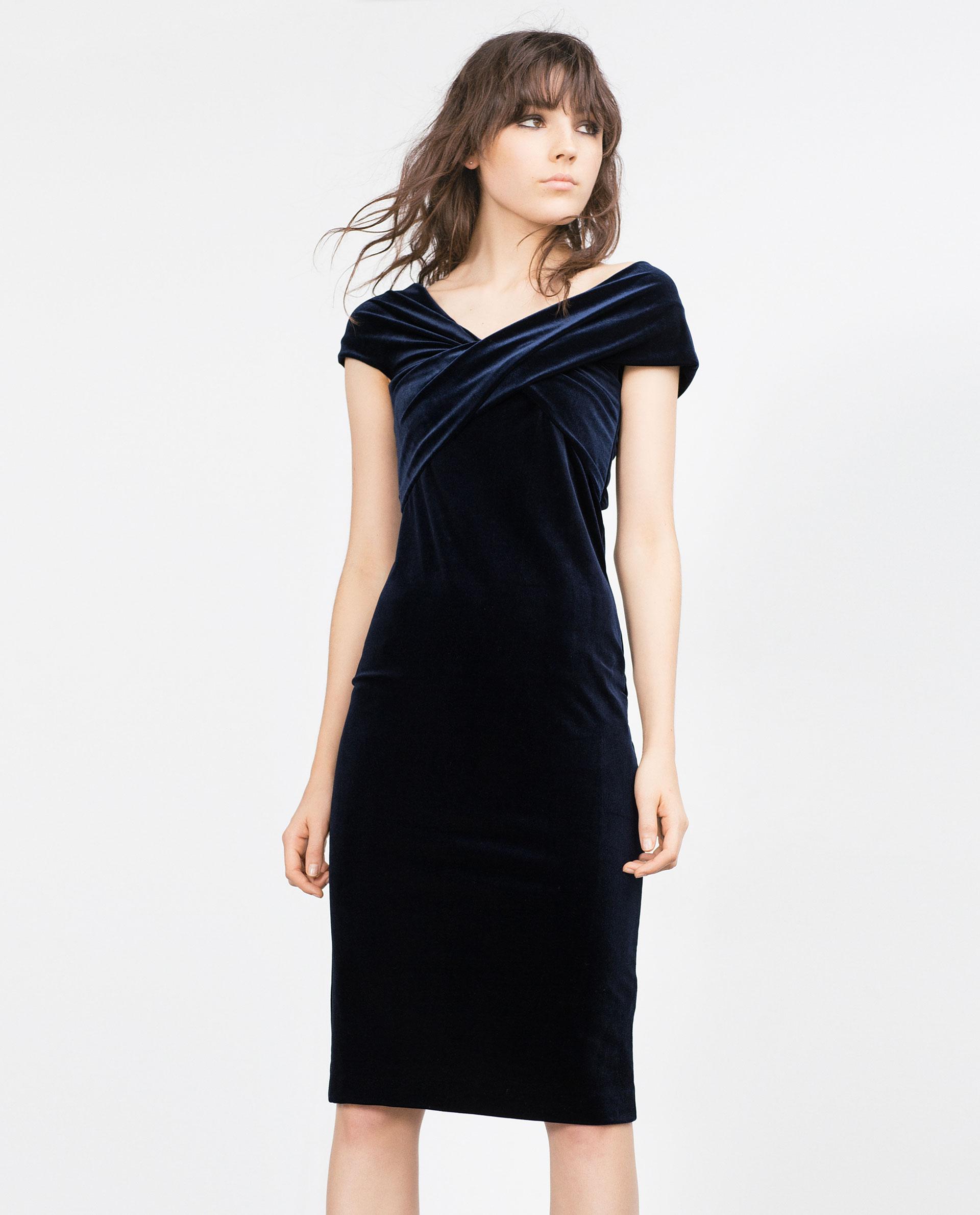 Vestido Zara terciopelo