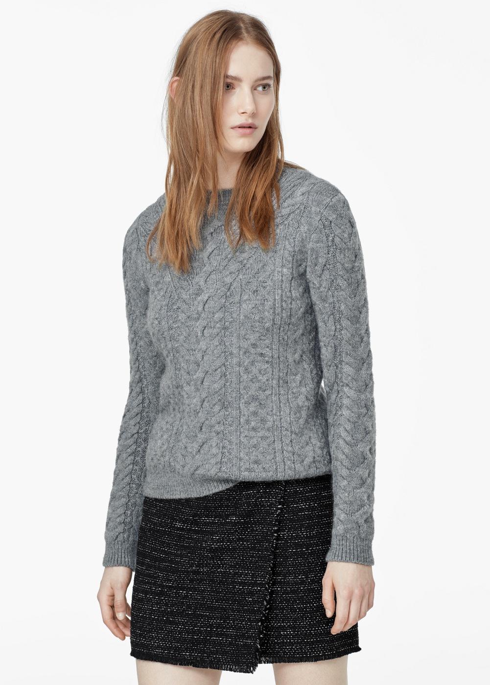 Mango falda tweed