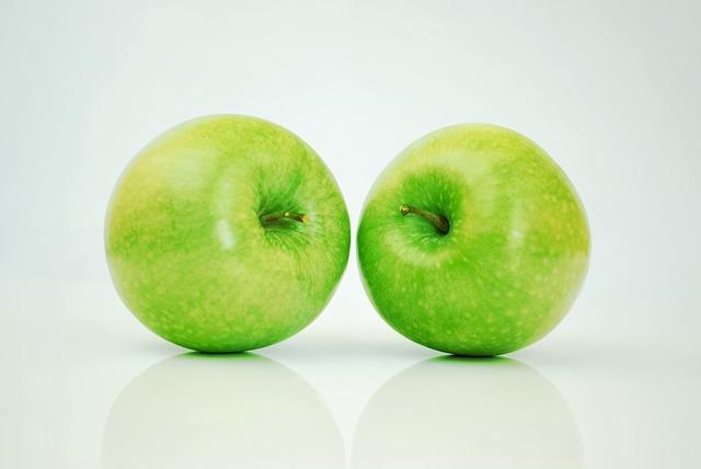 Frutas con fibra - Manzana