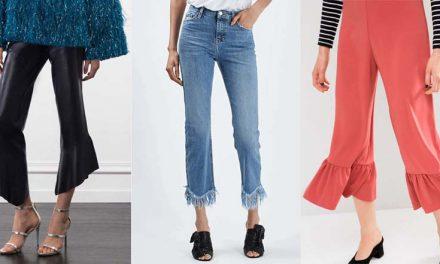 Volantes y flecos en los pantalones de moda