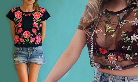 Blusas y camisetas bordadas, lo mas trendy del momento