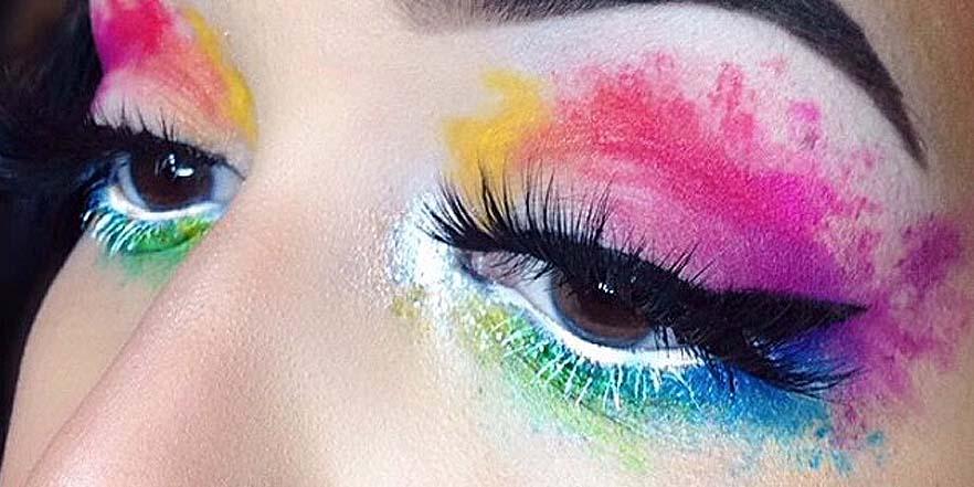 Maquillaje de ojos acuarela