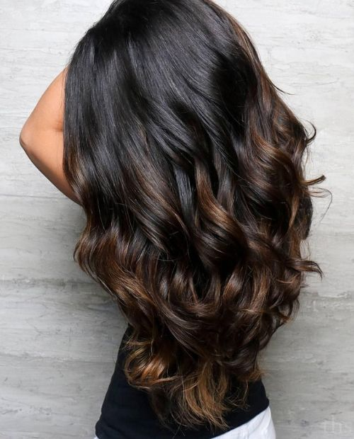 mechas pelo marrón