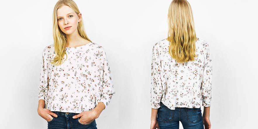 blusa capa rebajas verano 2017 Bershka