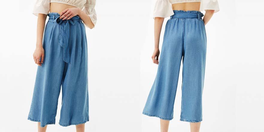 pantalon culote fluido rebajas verano 2017 Bershka