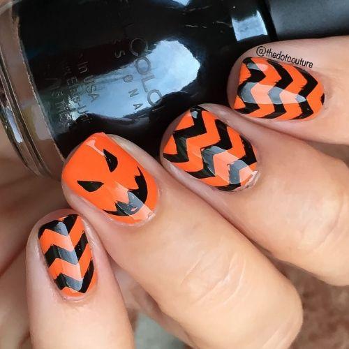 nail art de calabaza
