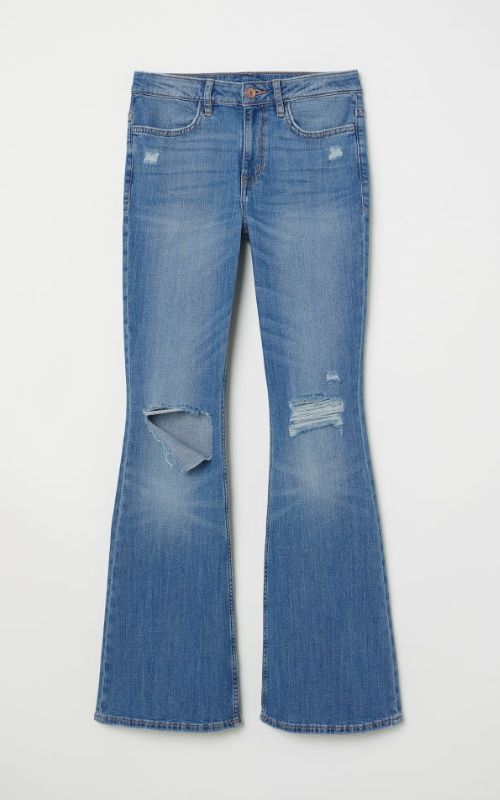 pantalones de campana rotos