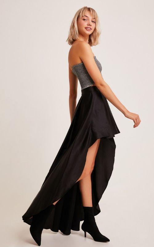 vestido falta y top