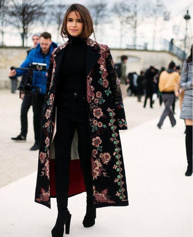 abrigo negro invierno 2018