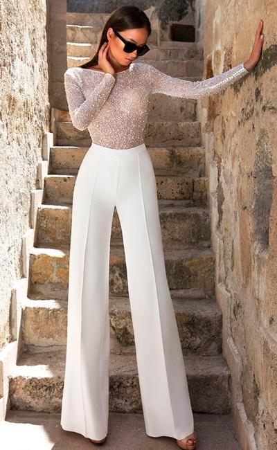 pantalon de fiesta palazzo