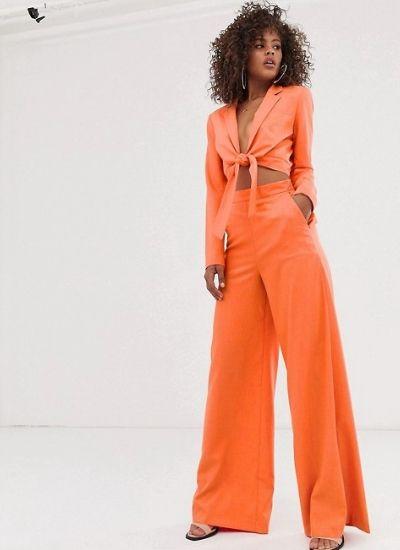 traje naranja verano 2019