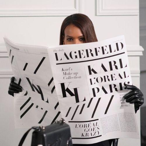 maquillaje karl lagerfeld para loreal