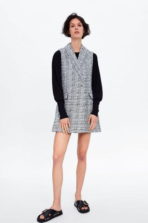 vestidos de tweed de zara